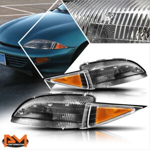 For 95 99 Chevy Cavalier Direct Replacement Headlight lamp Amber Corner Black