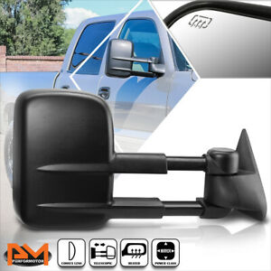 For 99 02 Chevy Silverado Gmc Sierra Power Heated Side View Towing Mirror Right