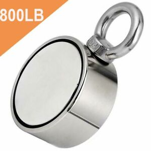Fishing Large Magnet Upto 800 Lbs Pull Force Heavy Duty Strong Neodymium Magnet