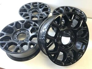 2020 Ford F 250 F 350 Wheels Gloss Black Factory Lc3c1007pa Set 4