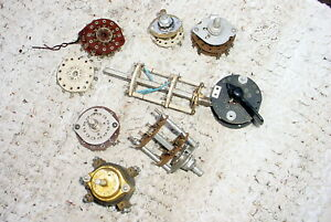 Misc Lot 7 Vintage Rotary Switches