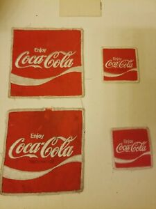 4 Vintage Coca Cola Patches - Embroidered Employee Uniform 2 1/2