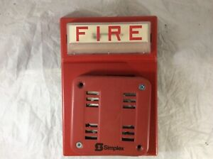 Simplex Fire Alarm Red Flash Horn Strobe Wall Mount Combo 4903 9101 2901 9846