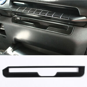 For Lexus Ux200 260h 2019 2020 Black Brushed Central Console Cd Cover Trim 1pcs