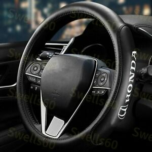 15 Car Steering Wheel Cover Genuine Leather For All Honda Accord free Gift