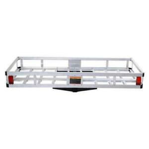 60 X 22 X7 Aluminum Hitch Mount Cargo Carrier Truck Luggage Basket Universal