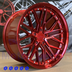 Xxr 571 Wheels 18 X8 5 10 25 Red Staggered 5x4 5 99 03 04 Ford Mustang Cobra R