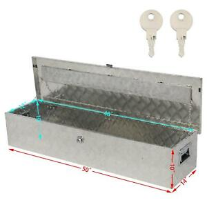 49x13 Aluminum 5 Patterns Tool Box W Lock Pickup Truck Bed Atv Trailer Storage