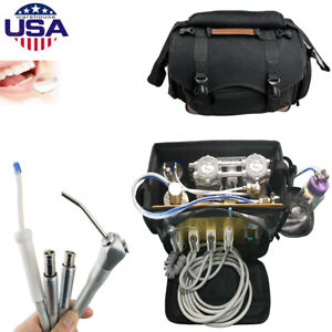 Dental Portable Unit With Air Compressor Suction System 3 Way Syringe 4h 410w Us