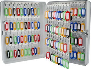 160 Key Storage Cabinet Lock Box Safe Organizer Wall Mount Large Car Lot Holder