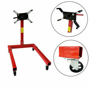 80041 Red Engine Stand 1250 Lbs Capacity 360 Degree Head Motor Stand New