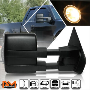 For 04 14 Ford F150 Power Heated Led Signal Puddle Lamp Side Towing Mirror Right