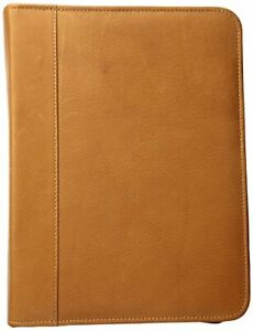 Piel Leather Three ring Binder Sd Saddle