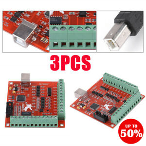 Cnc Usb Mach3 100khz Board 4 Axis Controller Card Motor Driver Motion Universal