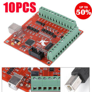 24v Dc Usb Cnc Motion Controller Card Board Interface For Stepper Motor Diy