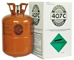 R407c refrigerant 25lb Cylinder New factory Sealed fast Shipping