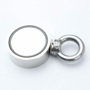 Double Side Round Neodymium Strong Fishing Magnet Combined 660 Lbs Pulling Force
