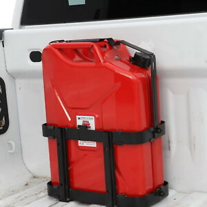 Jerry Can Holder Gas Mounted Rack Fuel Gasoline Military Metal 20 Liter 5 Gallon