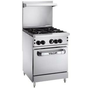Vulcan Natural Gas 4 Burner 24 Range With Standard Oven Base 143 000 Btu