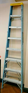ma2 Werner 6008 Mk6 8ft Type I Fiberglass Step Ladder Local Pickup