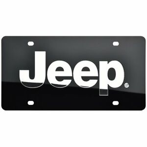 Jeep License Plate Lazer Cut Black With Silver