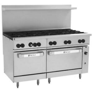 Wolf Natural Gas 60 Manual Range With 10 Burners 2 Standard Ovens 358 000 Btu