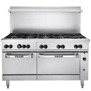 Vulcan 10 Burner 60 Natural Gas Range With Standard Oven Base 358 000 Btu