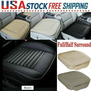 Car Front Seat Cover Pu Leather Pad Mat Auto Chair Cushion Full Half Surround