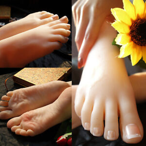 Silicone Lifesize Female Mannequin Foot Model Jewelry Display Model Collectible