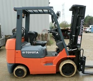 Toyota Model 7fgcu25 2005 5000 Lbs Capacity Great Cushion Tire Forklift