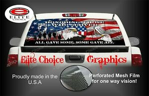 Military Honor Vets Patriotic Flag Rear Window Graphic Decal Sticker Truck Car