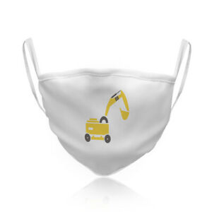 Cotton Washable Reusable Face Mask Construction Machine Car Auto Style B Others