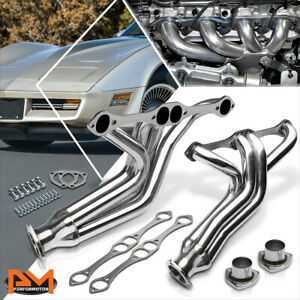 For 55 82 Chevy Sbc Small Block 265 396 Stainless Steel Exhaust Header Manifold