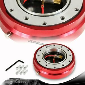 1 Red 6 Hole Steering Wheel Short Quick Release Hub Adapter Kit Universal