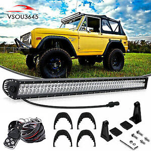 50inch 288w Led Light Bar Wiring Combo Kit Fit For Jeep Wrangler Yj 87 95
