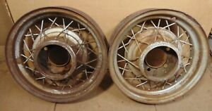 1935 Ford 16 Wire Wheel Pair Originals Coupe Sedan Pickup 32 31 30 34 Hot Rod