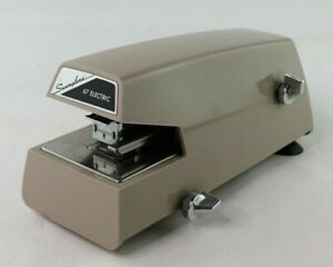 Vintage Swingline 67 Electric Stapler 3 Suction Cup Base Works Great Large 8