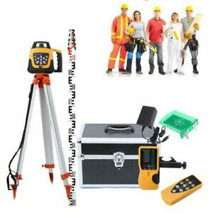 Ridgeyard 360 Rotary Rotating Self Leveling Laser Level Kit Green W 5m Tripod