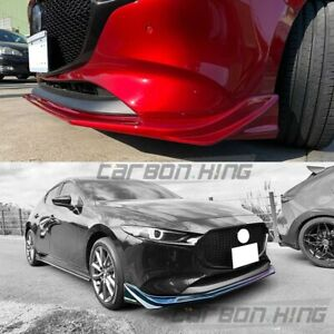 Painted For Mazda 3 4th Bp Hatchback Dto Look Front Bumper Spoiler Body Kit 19