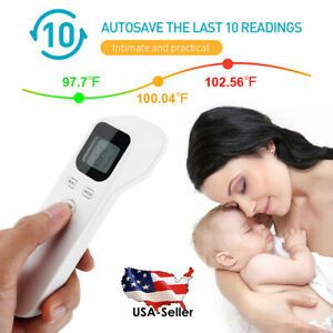 Infrared Forehead Thermometer Digital Lcd Non contact Body Adult Temperature Us