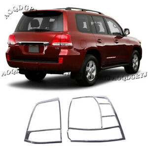 Chrome Tail Light Lamp Cover Moulding Trim For Toyota Land Cruiser Lc200 2008 15