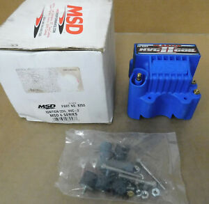 Msd Hvc 2 Ignition Coil 8253 44000 Volt U core Winding Msd 6 Series Ignitions