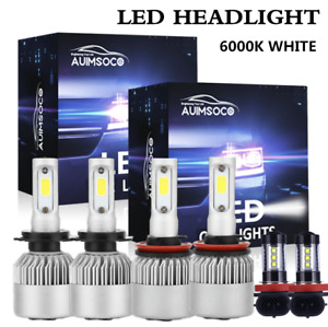 For Chevy Traverse 2013 2017 6x Combo H7 H11 Led Headlight Bulbs Kit Hi low Fog