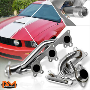 For 05 10 Ford Mustang 4 0l V6 Stainless Steel Racing Exhaust Header Manifold