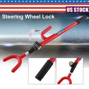 Universal Anti Theft Steering Wheel Lock With 2 Keys Car Truck Security