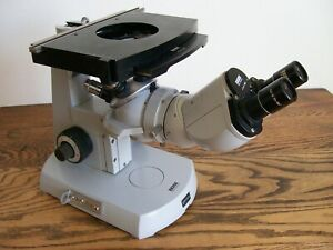 Carl Zeiss Inverted Tissue Culture Microscope 471281 West Germany Incomplete