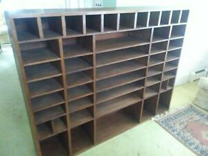 Office Organizer Divider Cubbyhole Wall Unit Hand built Exl cond P u Only