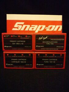 Snap On Mt2500 Primary Troubleshooter Cartridges Gm chrysler ford Thru 1992