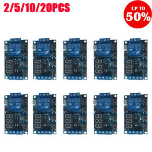 6 30v Relay Module Switch Trigger Time Delay Circuit Timer Cycle Adjustable Lot