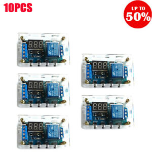 6 30v Relay Module Switch Trigger Time Delay Circuit Timer Cycle With Shell 10x